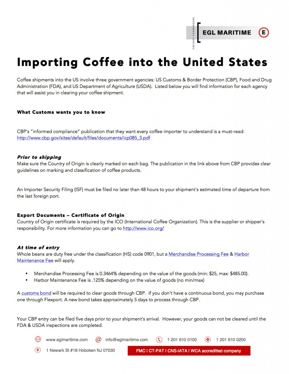 Coffee-Import-Guidelines